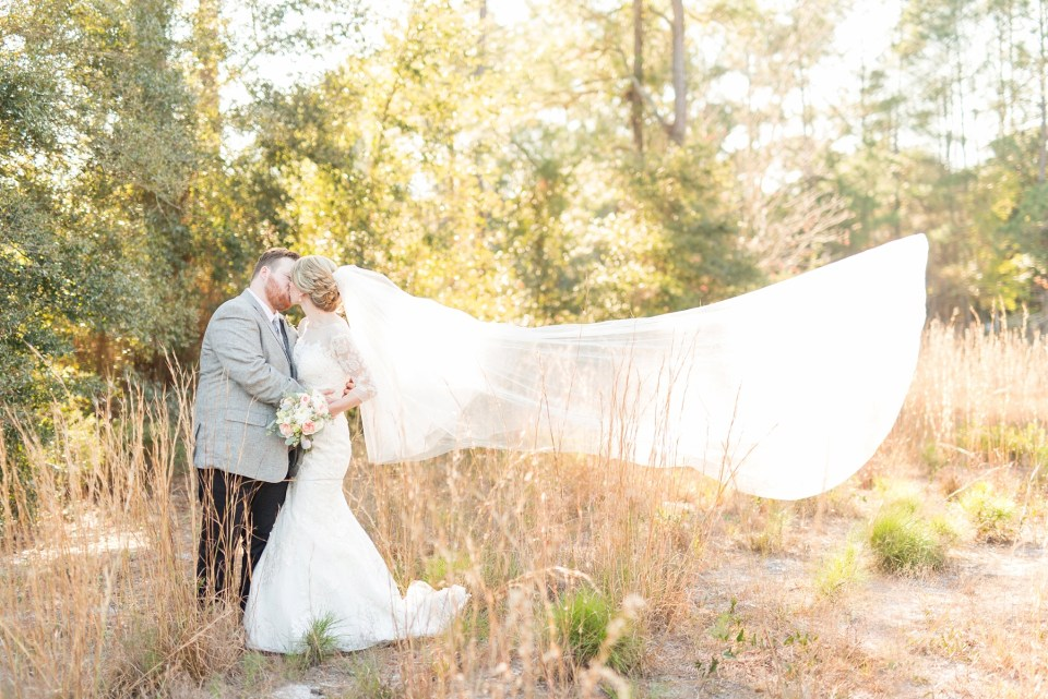 Romantic Bride and Groom Portrait | Long Veil | Bri Cibene Photography | www.bricibene.com