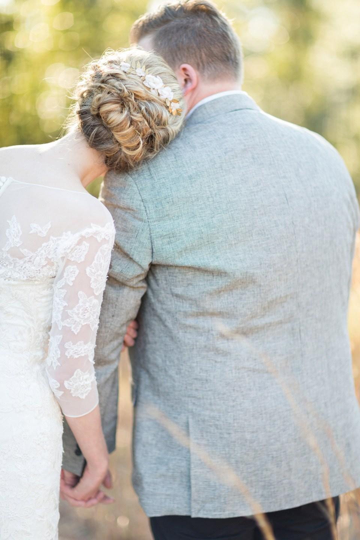 Romantic Bride and Groom Portrait | Wedding Hair | Bri Cibene Photography | www.bricibene.com
