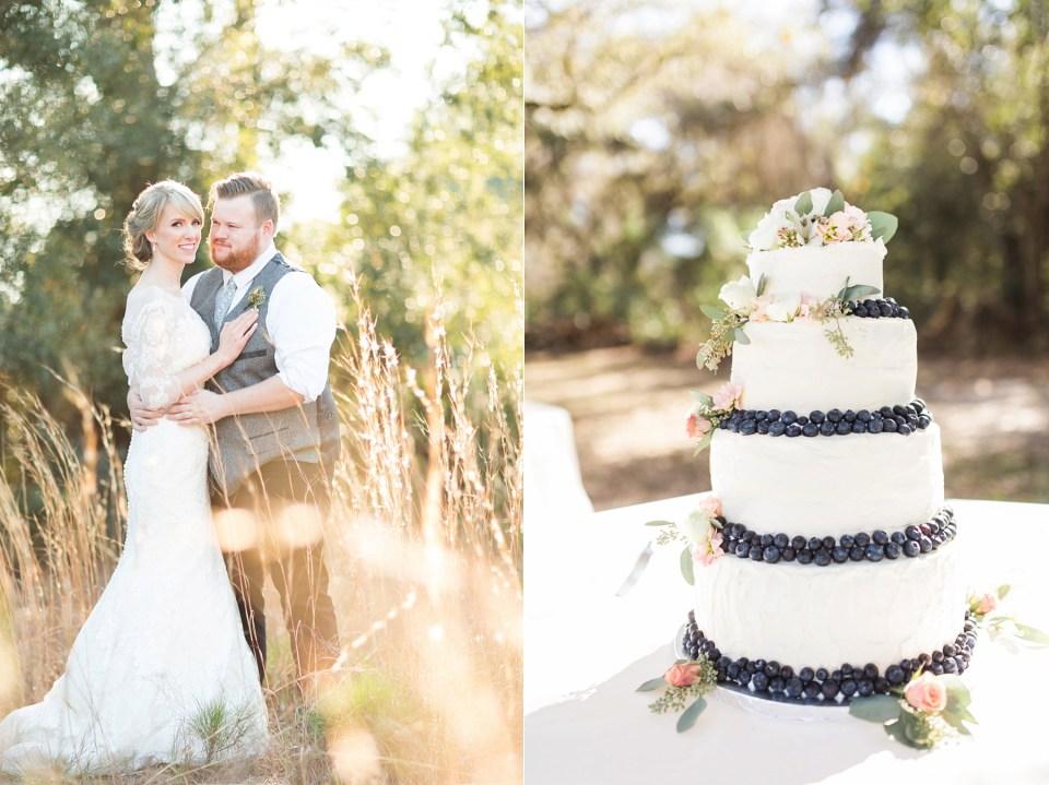 Bride and Groom Portrait | Blueberry Wedding Cake | Bri Cibene Photography | www.bricibene.com