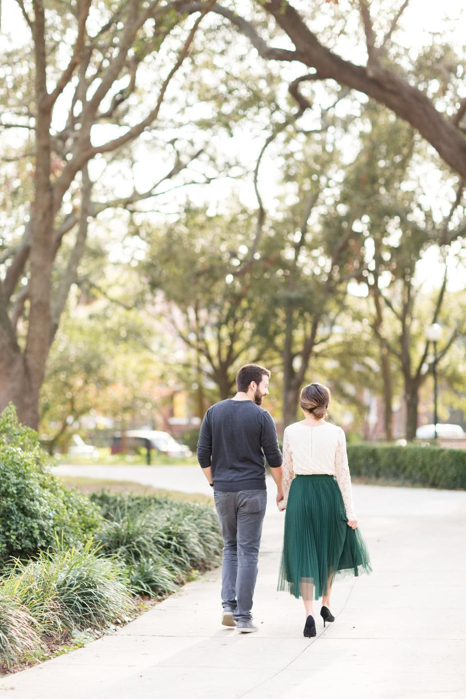 Downtown Jacksonville and Memorial Park Engagement | Jacksonville Wedding Photographers | www.bricibene.com