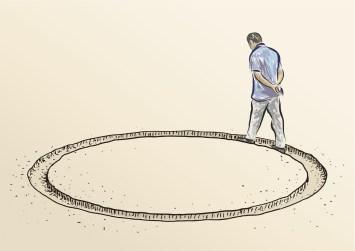 disegno.di-un-uomo-che-cammina-in-circolo