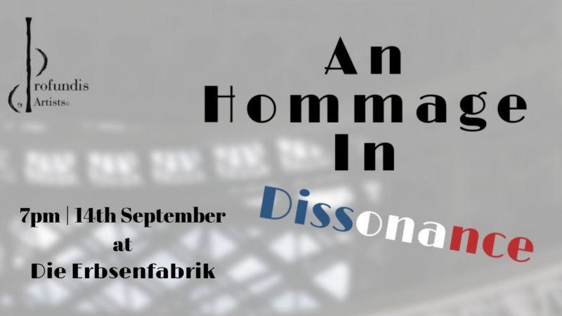 Konzert: An Hommage in Dissonance Konzert, Musik