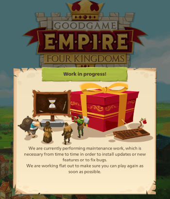 Empire: Four Kingdoms - Updating Game