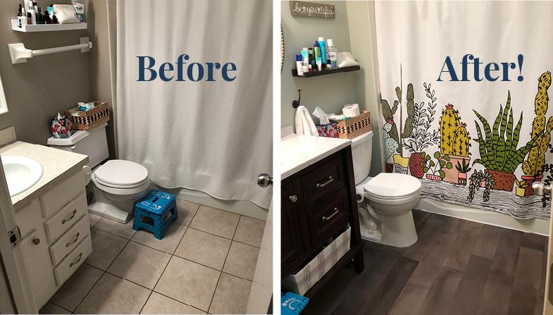 Half a Bathroom Reno
