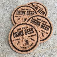 Save Water Drink Beer — coasters