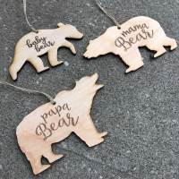 Bear Family Ornaments