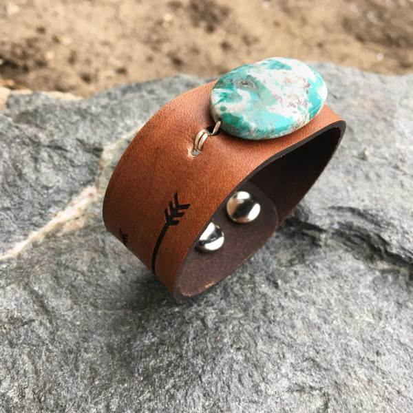 African Turquoise Cuff