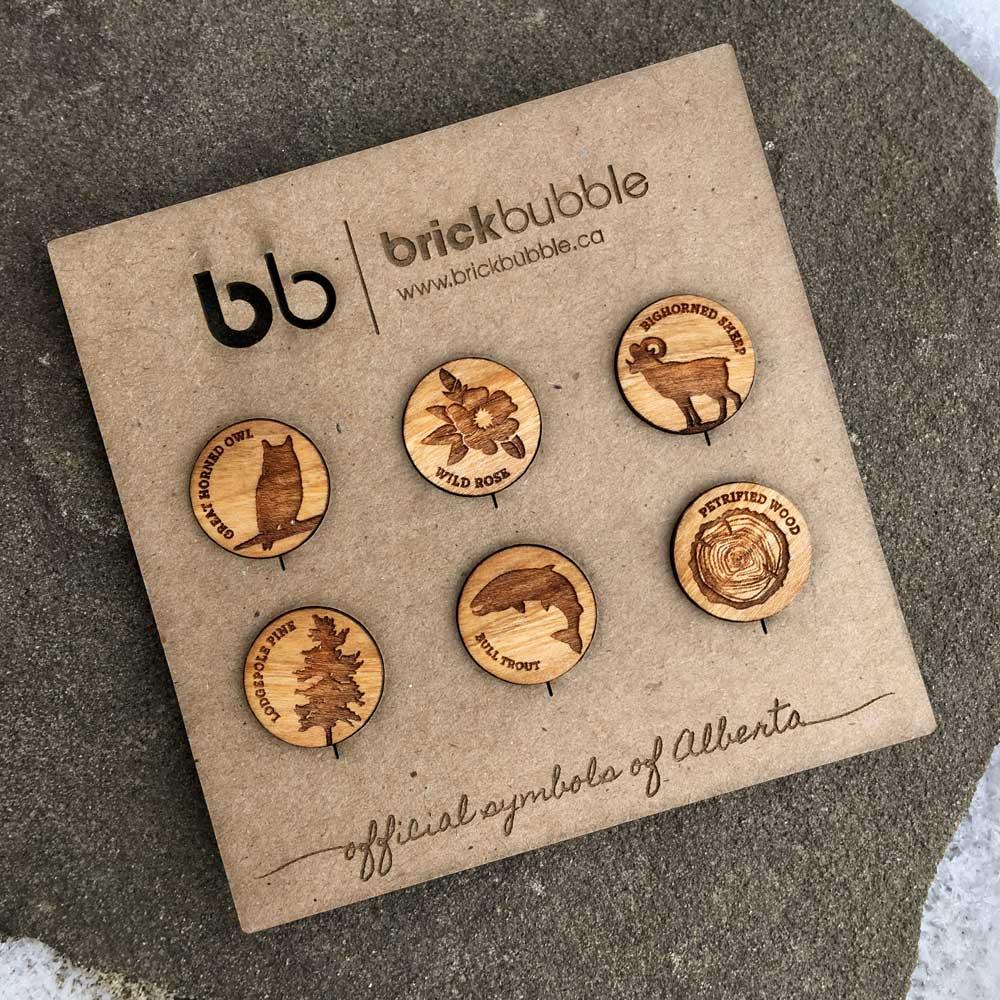 Alberta Symbols 6 Piece Magnet Set Brickbubble