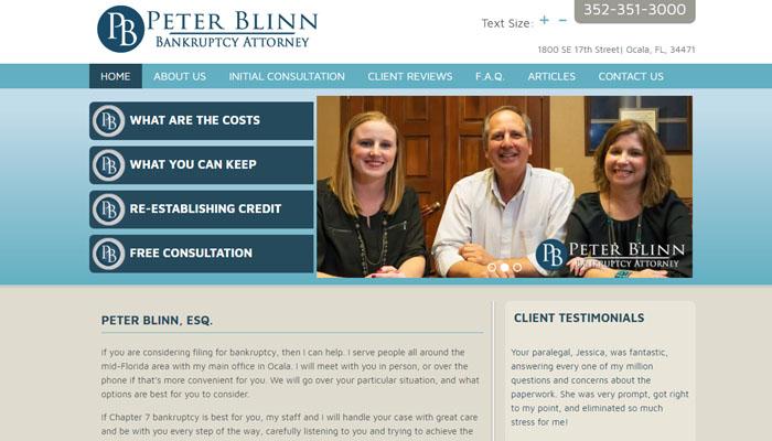Peter Blinn, Bankruptcy Attorney