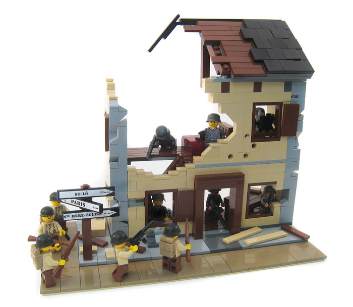 Purchase custom Lego instructions  Bombed Out French Building     Thumb wwiibuilding1 6