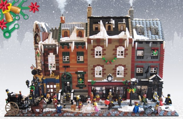 Lego Victorian London Christmas
