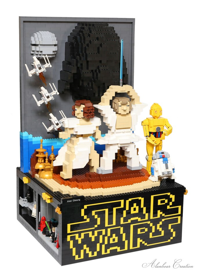 3D Lego Star Wars Poster