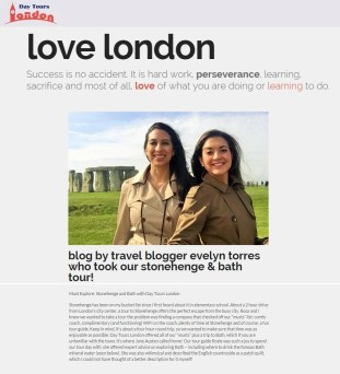 "Day Tours London ""Love London"" Section Sep 2015"