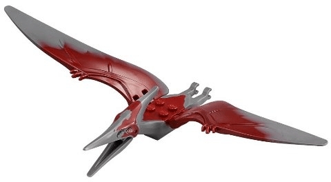 Bricker Part LEGO Ptera04 Dino Pteranodon With Dark Red Back Complete Assembly 75915