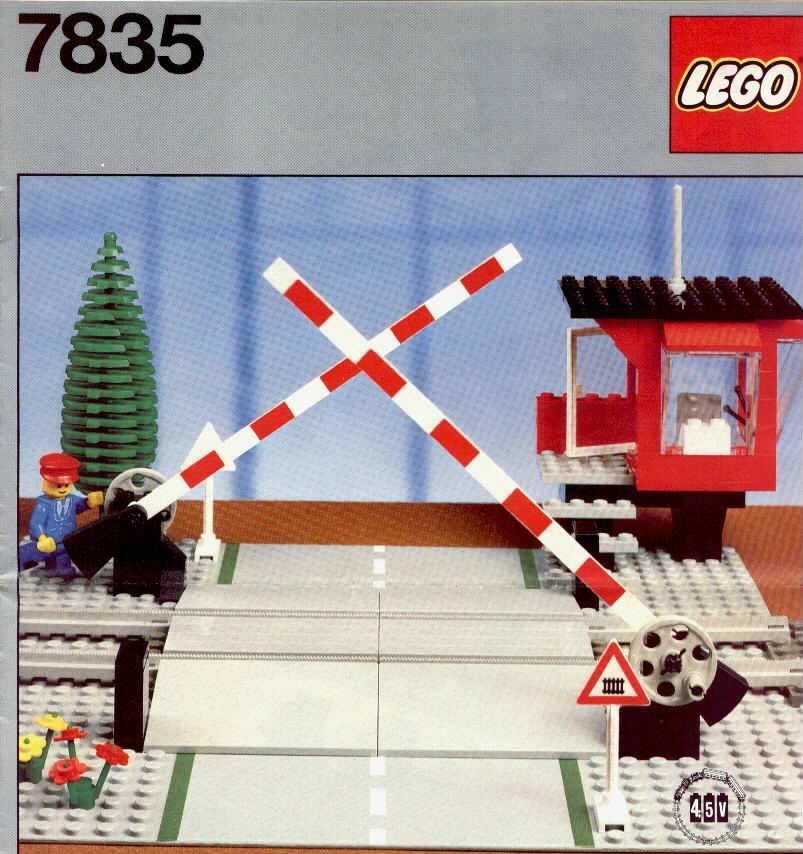 Bricker Part LEGO 4512pb01 Train Level Crossing Gate