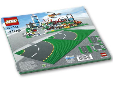 Bricker Construction Toy By LEGO 4109 Curved Road Plate