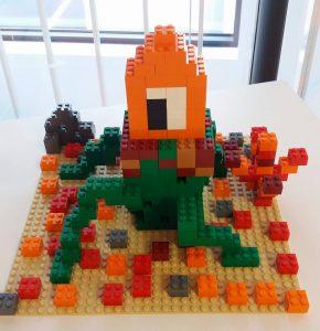 pixel art en Lego par Brickevent