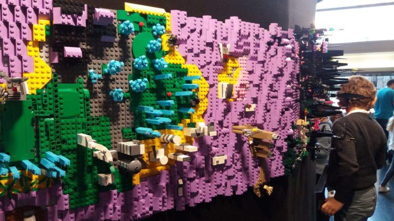 fresque en briques LEGO