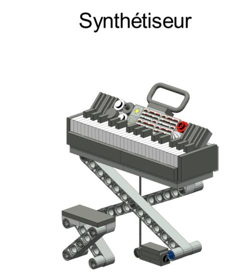 clavier lusique en Lego