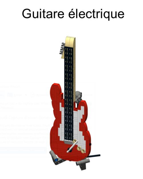 guitare en briques Lego