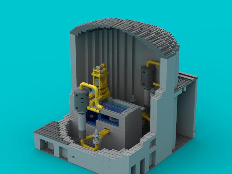 écorché réacteur nucléaire Lego