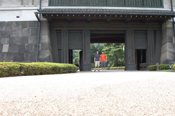One gate to castle grounds.