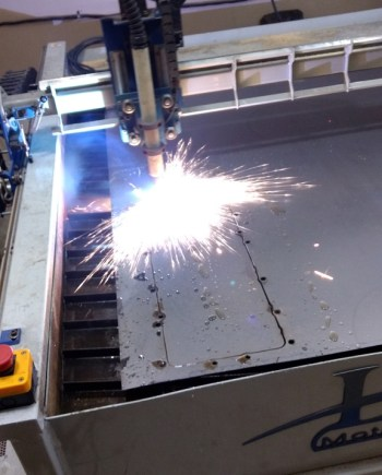 LDR Motion Systems Plasma cutter in action