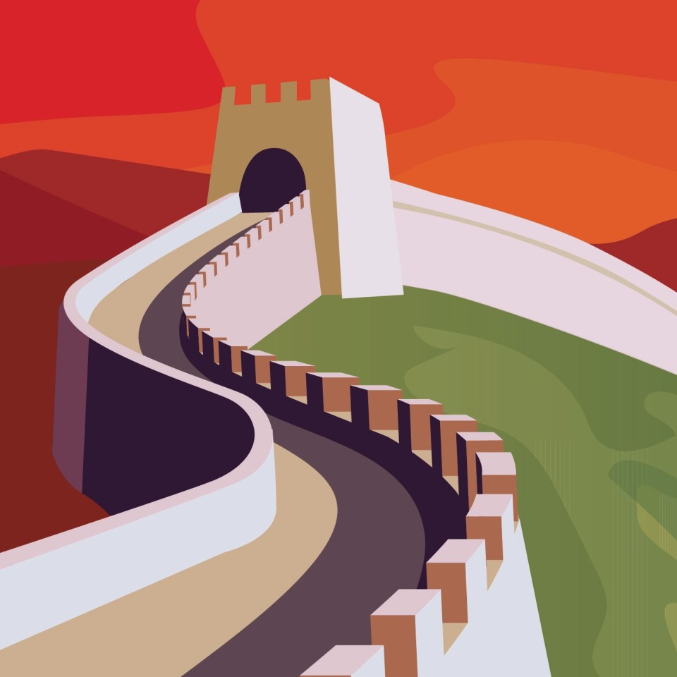 Illustration of the Great Wall of China