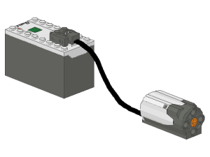 PF Battery Box with Medium Motor