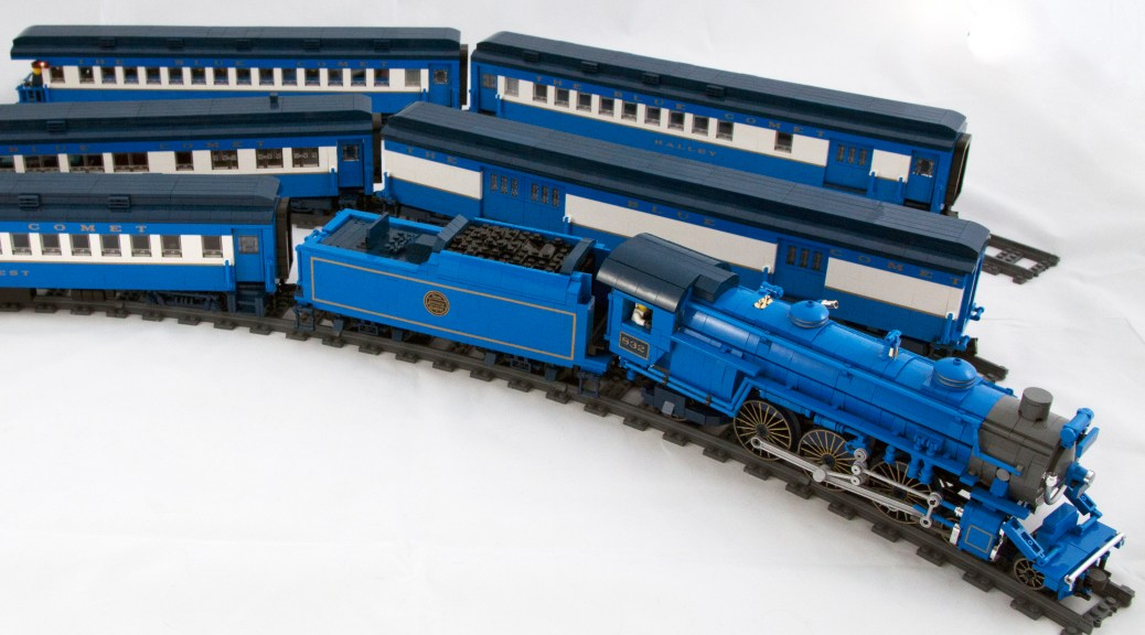 A Tail Of The Blue Comet The Seashores Finest Train In Lego By