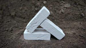 White Simulated Handmade Stock Brick