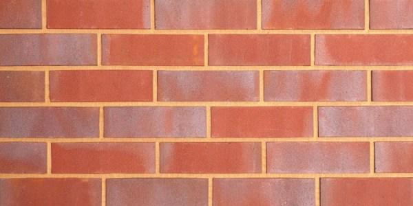 Red Blue Sanded Brick Slip