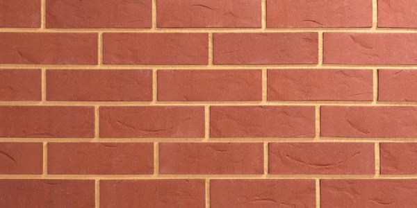 Red Textured Brick Slip