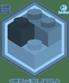 Badge Brickodeur niv Bleu