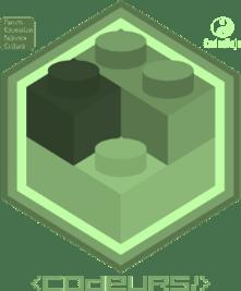 Badge Brickodeur niv Vert