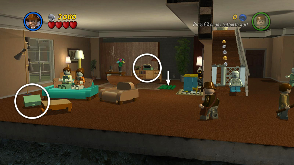 Story Level 2 Doom Town LEGO Indiana Jones 2 Walkthrough Crystal Skull Part 1