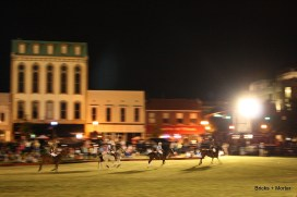 Traditionally, there are four players on each team in outdoor polo.