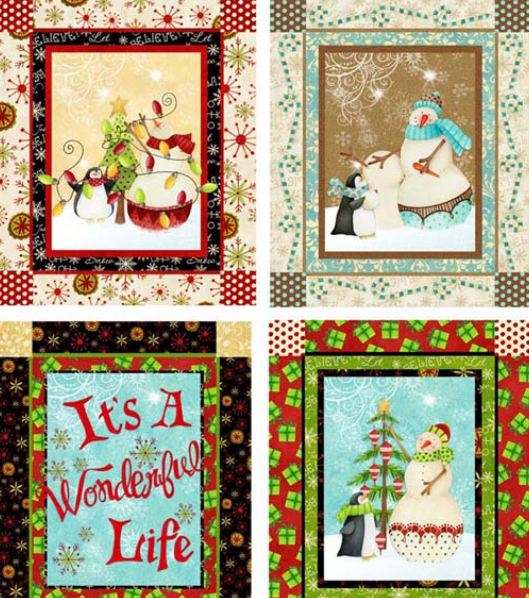 Christmas Quilts Made Panels