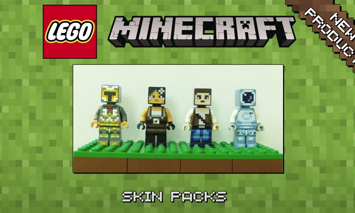 LEGO Minecraft Skins Official Images Revealed!