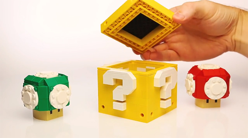 Hold On To Your Bricks and Check Out These Custom LEGO Nintendo Super Mario Boxes From B3