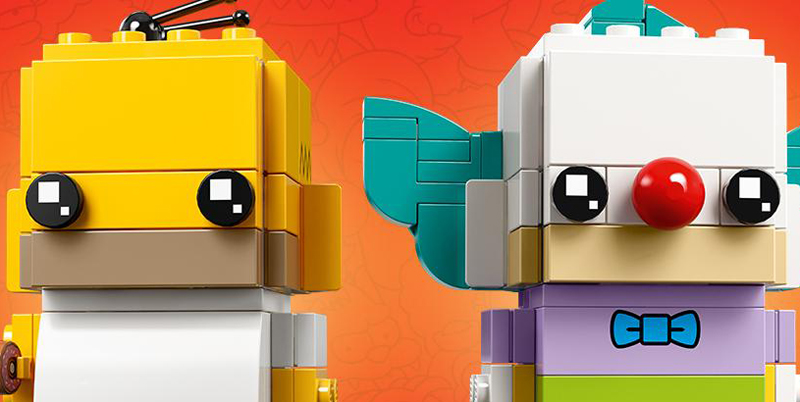 LEGO BrickHeadz Homer Simpson and Krusty the Clown (41632) Revealed
