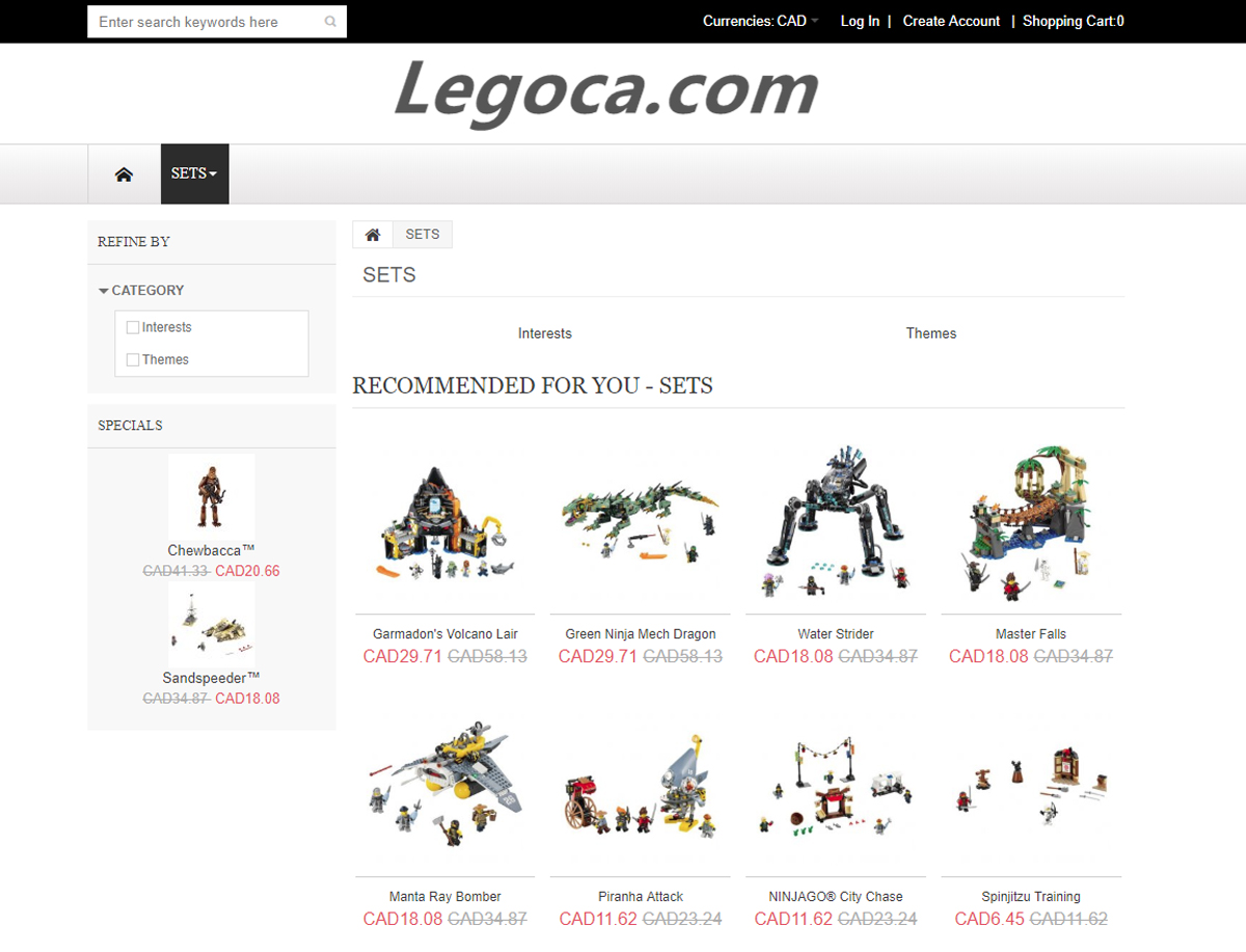Fake LEGO Shopping Sites