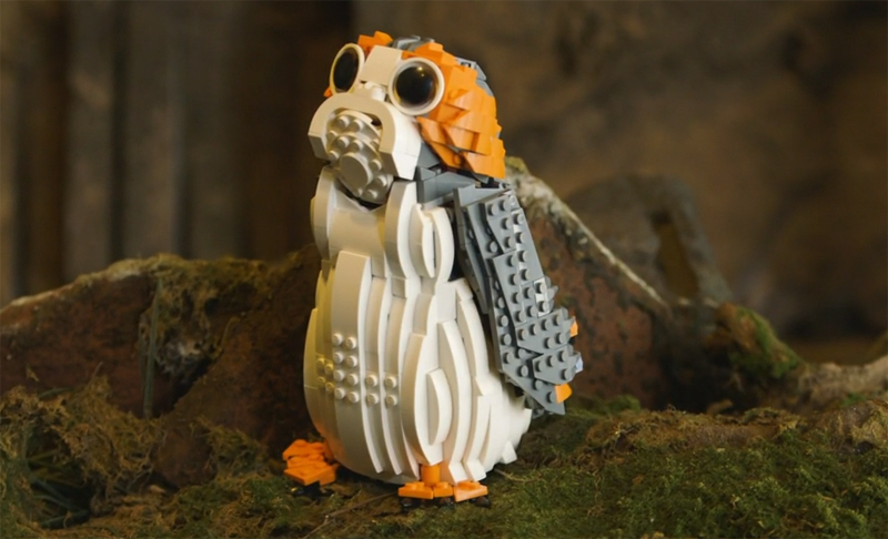 WATCH: This LEGO Star Wars Porg (75230) Speed Build Video Gives You A Fun Background of Ahch-To's Most Famous Bird
