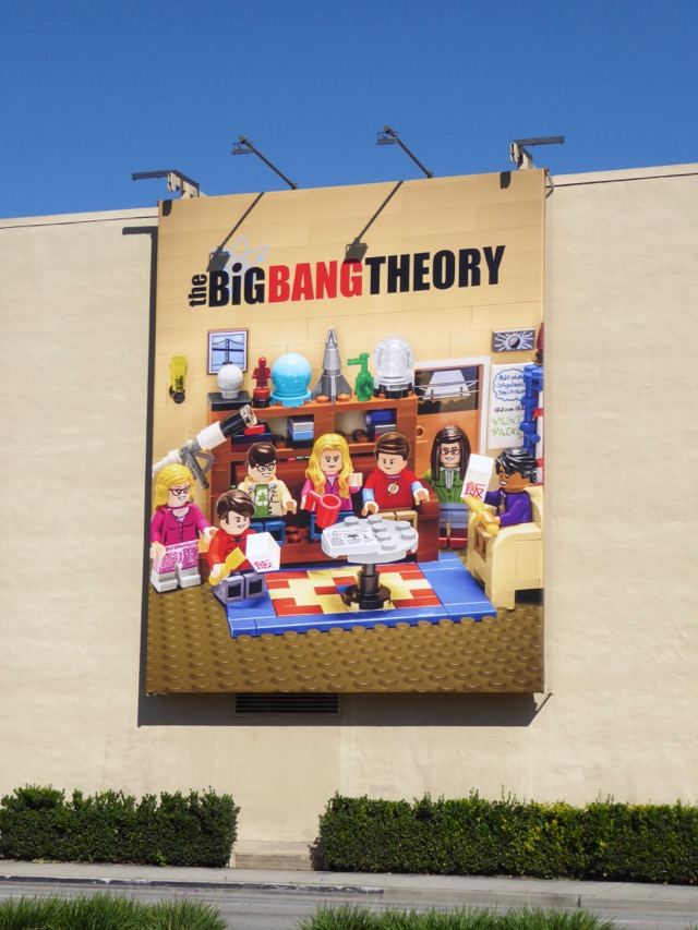 big bang theory lego billboard