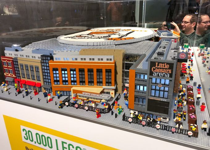 New Awesome LEGO Sports Venue MOC Unveiled: Detroit's Little Caesars Arena by LEGOLAND Discovery Center Auburn Hills