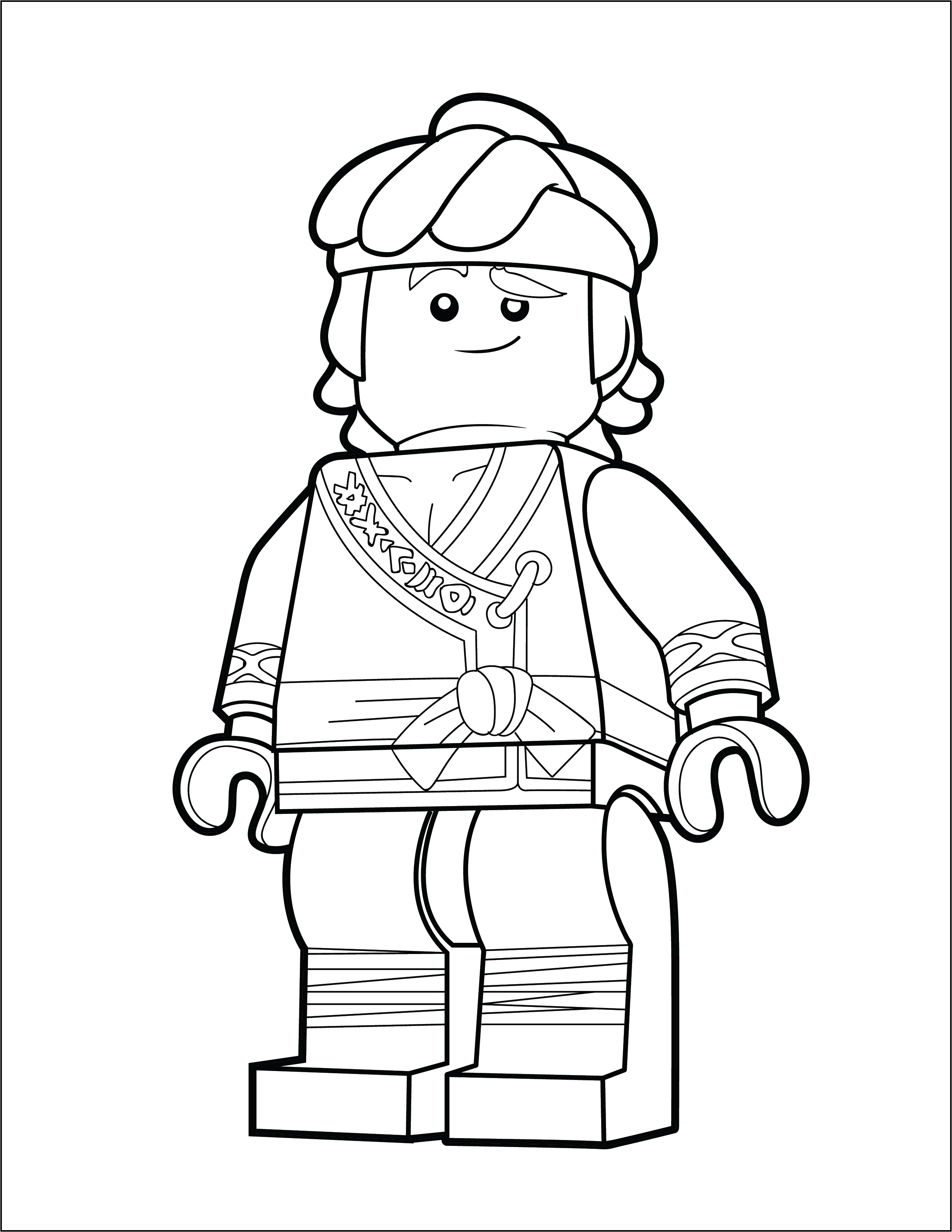 LEGO Ninjago Coloring Page - Cole - The Brick Show