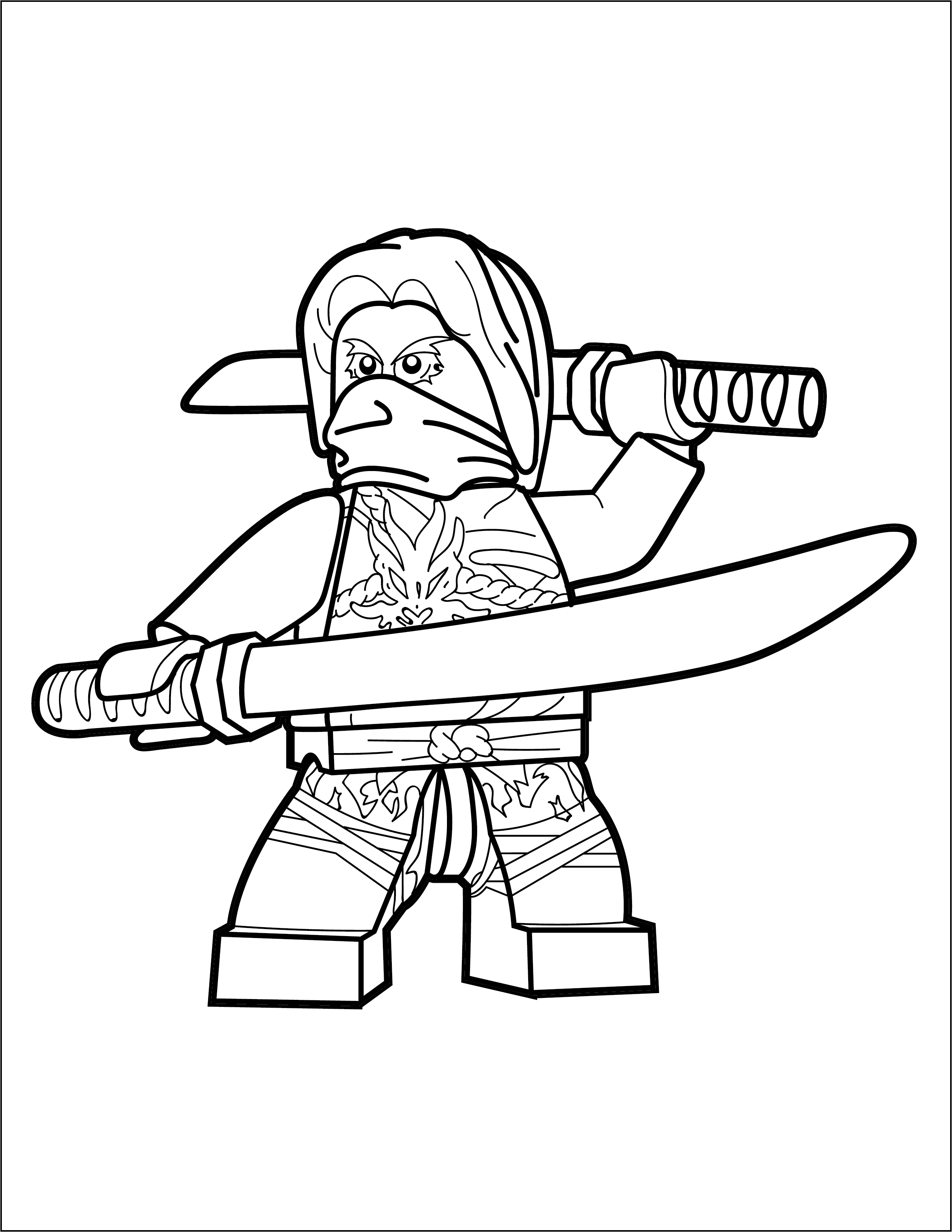 lego ninjago coloring page morro the brick show