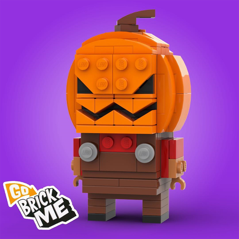 Make Your Brick or Treats More Fun with this Custom LEGO BrickHeadz Brick-O'-Lantern