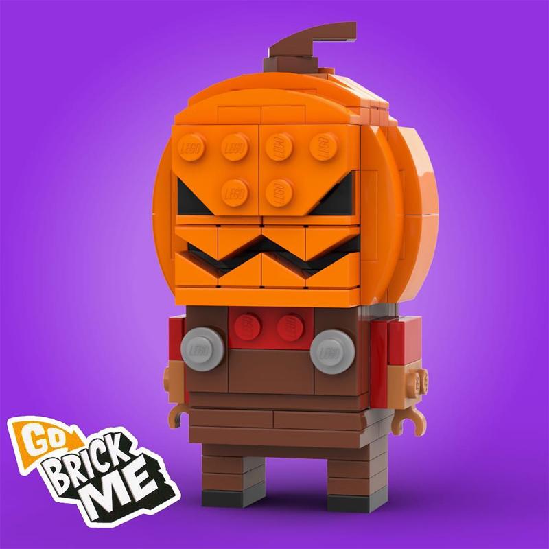 Make Your Brick or Treats More Fun with this Custom LEGO BrickHeadz Brick-O'-Lantern
