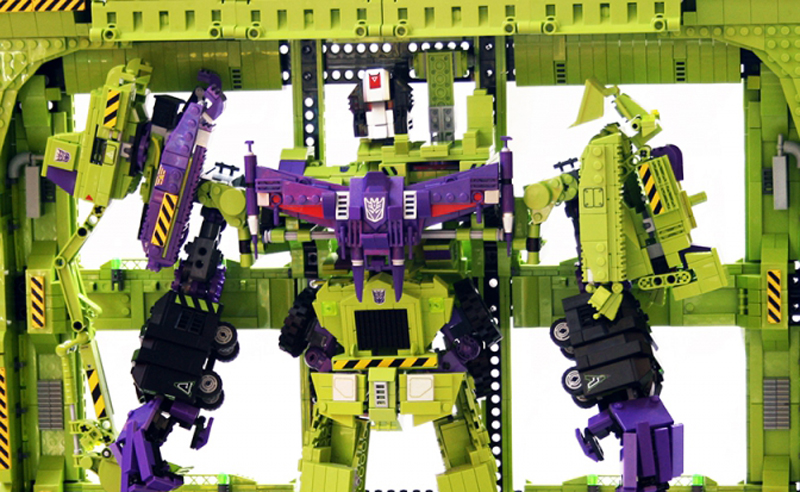 I'm an Uber Fanboy Once Again With This Custom LEGO Transformers Devastator!